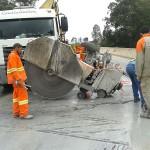 Demolição Controlada - Corte com serra dilatação de encontro de viaduto