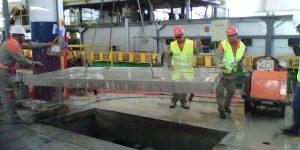 Corte em concreto - Içamento de laje