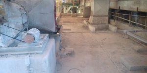 Antes do corte e remoção de vigas e lajes, indústria em - Mogi Guaçu - SP - Maio - 2015