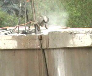 demolição controlada com fio diamantado - Ponte São Pedro - SP