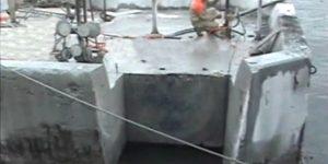 desmonte controlado com fio diamantado