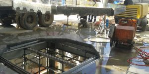 corte em laje steel deck com serra diamantada