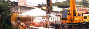 demolição controlada de ponte - Conselheiro Lafaiete - MG