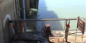 furo em concreto em hidrelétricas