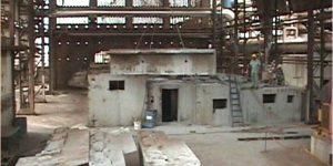 demolição controlada dos acionadores redutores e turbinas manutenção em usina de açúcar