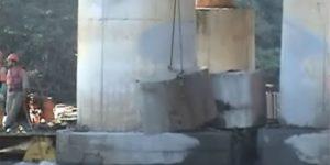 corte em pilar com fio diamantado - São Joaquim da Barra - São Paulo