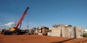 Demolição controlada com fio diamantado em quatro ternos de moenda usina Rio Brilhante - MS