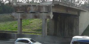 demolição de viaduto e remoção