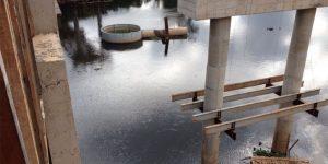 remoção dos escombros no Rio Piracicaba - SP