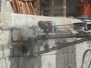 Corte em concreto com fio diamantado para instalação de dutos de ar condicionado - Hospital da Maternidade Brás - São Paulo /SP