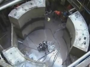 demolição controlada com fio diamantado em base de concreto em indústria de papel celulose - Santa Catarina