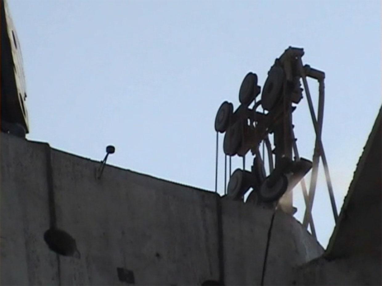 corte com fio diamantado em silos de concreto - São Vicente - São Paulo