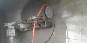 corte com fio diamantado abertura circular em parede de concreto - Santa Bárbara d'Oeste - São Paulo