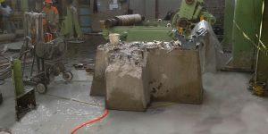 corte com fio diamantado em base de concreto - Fabrica de Papel Higiênico - São Paulo