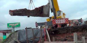 demolição de ponte com fio diamantado