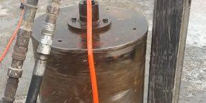 furo em base de concreto em reservatório de água - Indaiatuba - São Paulo