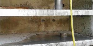 furo em base de concreto - Americana - São Paulo