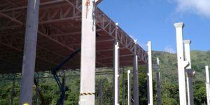 corte em pilar com fio diamantado - Fábrica em Duque de Caxias - Rio de Janeiro