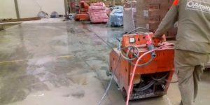 corte de piso com serra diamantada em Supermercado - Vitória da Conquista - Bahia