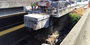Demolição com fio diamantado na Ponte em Rodovia