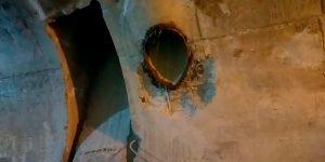 Furos em concreto na Usina Hidrelétrica - Ouroeste - São Paulo
