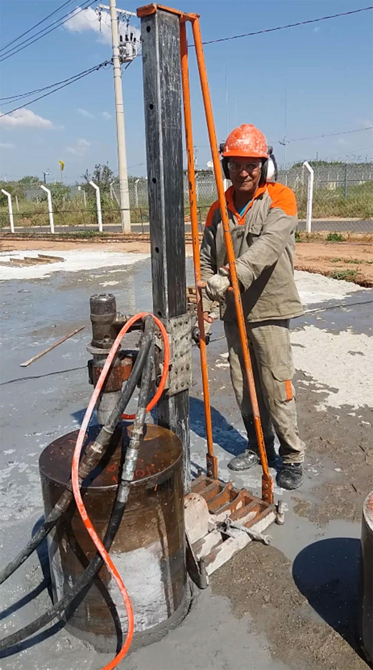 perfuração em concreto em Campinas
