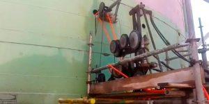corte em tanque de chapa de aço com fio diamantado - Fábrica em São Paulo