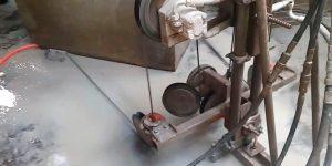 corte com fio diamantado em base de concreto - termelétrica - SC