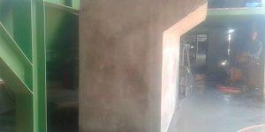 corte com fio diamantado na base de concreto do motoredutor em indústria- Telemâco Borba - PR