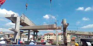 corte com fio diamantado para remoção de Passarela - Itapevi - São Paulo