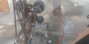 corte em pilar com fio diamantado em Fábrica - Porto Feliz - sp