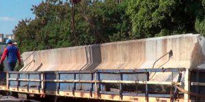 demolição com fio diamantado em viaduto ferroviário - SP