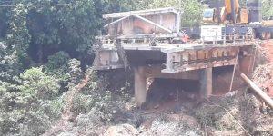 demolição controlada de ponte - Paulínia - SP