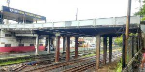 demolição de concreto de viaduto ferroviário - RJ