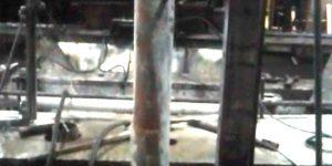 furos em base de moenda - Usina de Açúcar em Jacarezinho - PR