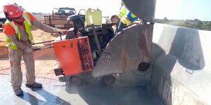 corte e remoção de laje de aproximação em viaduto - Limeira - SP