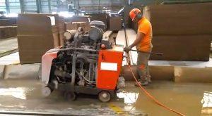 corte em piso industrial em fábrica de papel - Itapira - sp