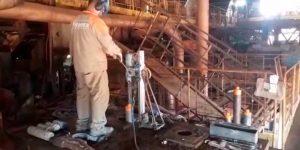 perfurações em base de concreto em Usina - Rio Brilhante - ms